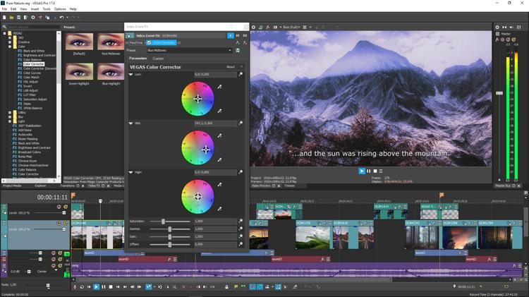Magix Vegas Pro Video editing software