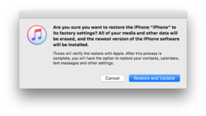 iPhone goes into recovery mode