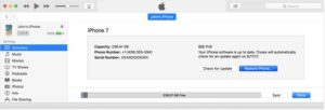 iTunes will start downloading the software for your iPhone.