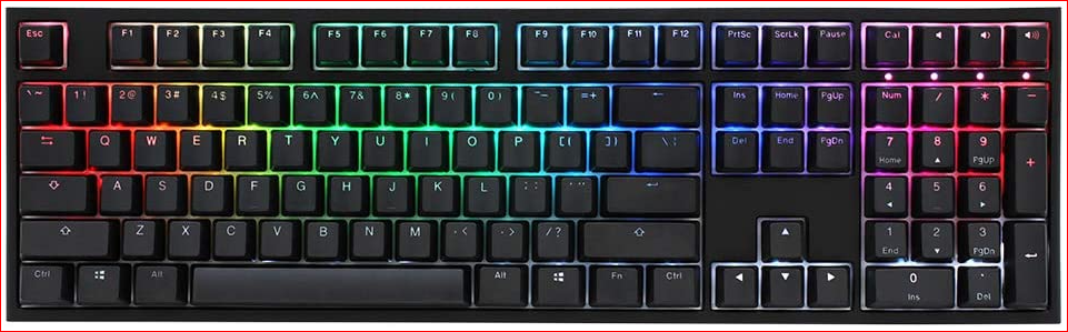 Ducky DKON1808ST One 2 RGB Full Sized MX Switch Blue