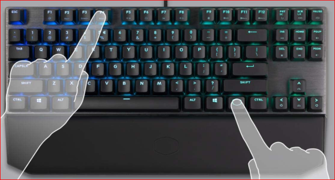 Cooler Master MK730 Tenkeyless Gaming Mechanical Keyboard