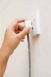 Unplug the router from the wall
