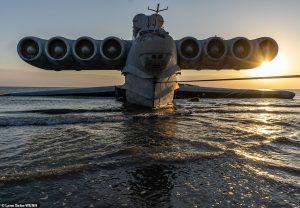 Delivery drones Caspian Sea Monster