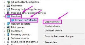 Update the Generic PNP Monitor