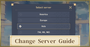 Change Your Server Region