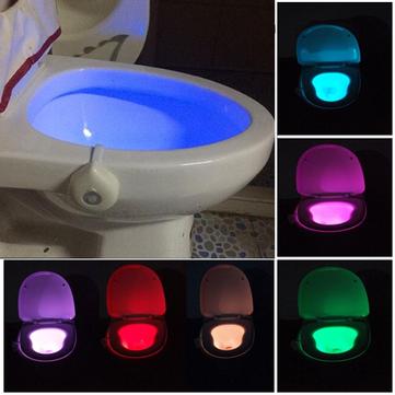 16-Color Toilet Night Light, Motion Sensor Activated Bathroom LED Bowl Nightlight,