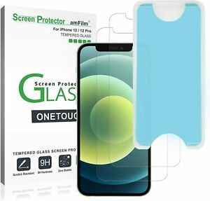 amFilm OneTouch Glass Screen Protector for iPhone 12 and 12 Pro
